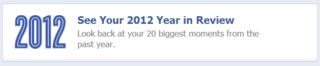 Facebook – See Your Year in Review