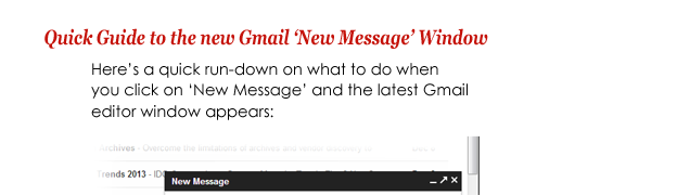 Quick Guide to the new Gmail editor