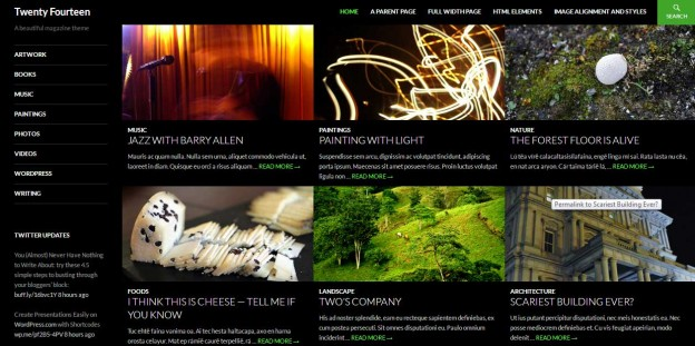 Wordpress Theme Twenty Fourteen Homepage image