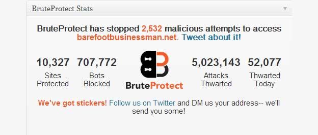 BruteProtect Status