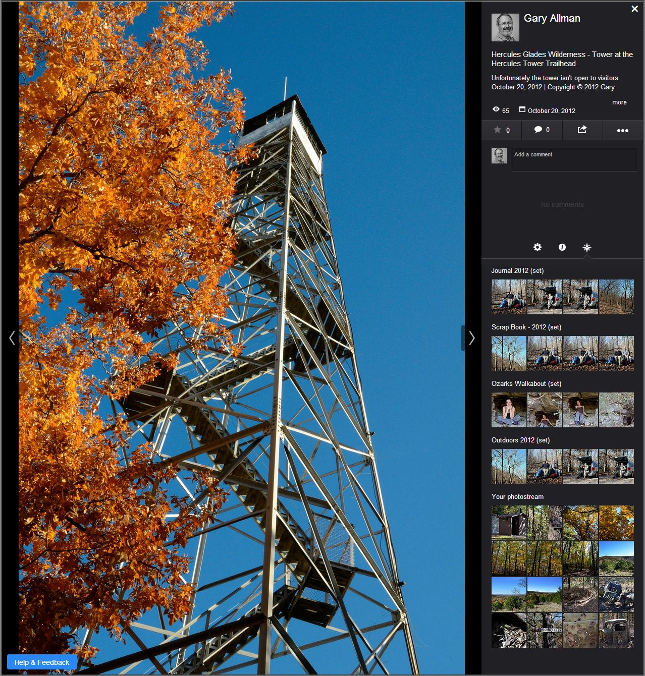 October 2013 - New Review version of the Flick Photo Page
