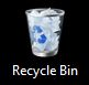 Windows 7 recycle bin on a black background